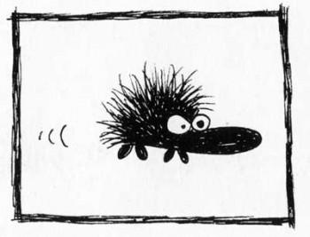 The hedgehog that swears by Milla Paloniemi.