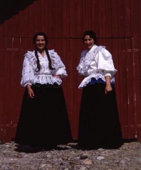 In Romani dress: the photo (by Topi Ikäläinen) is from 1983, and Finnish Romani women still wear their velvet skirts (which weigh 5-8 kilos)