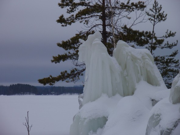 Made by nature: ice sculptures on Lake Saimaa. Photo: Soila Lehtonen