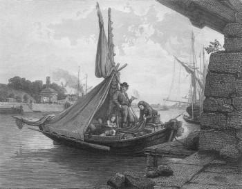 An evening on the Aura River, Turku. Hjalmar Munsterhjelm (1840–1905)