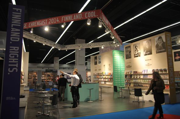 Getting ready: book fair scenery, 2013. Photo: FILI