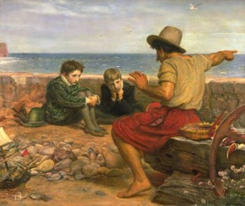 Storytelling: 'Boyhood of Raleigh' by J.E. Millais (1871). Wikipedia