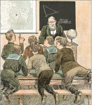Questions and answers. Illustration, from a Danish magazine, 1890: Wikimedia