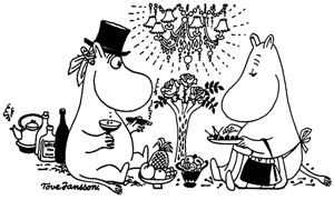 Here's to Moomins – Moominpappa and Moominmamma on a picnic