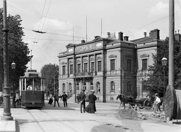 Student Union Building on Itäinen Heikinkatu (now Mannerheimintie). I.K. Inha, 1908.