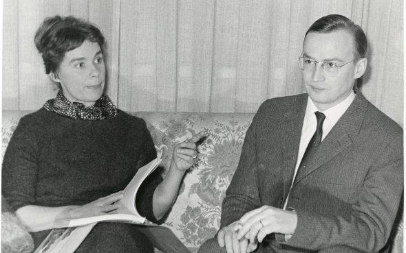 Marja-Liisa Vartio and Paavo Haavikko